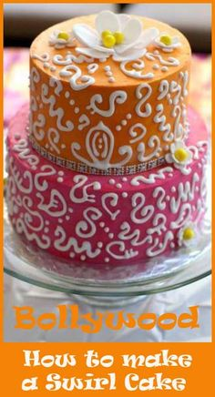 """To make the """"swirls"""" I used Wiltons White Melties because they work so much easier than royal icing. I always chill my cake before starting, that way if I make a mistake the chocolate hardens quickly and I can just pull it off and redo it!"""