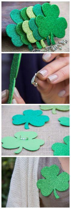 N'hésitez pas à arborer ce pin's totalement Irlandais et très facile à réaliser. Après avoir découpé votre trèfle dans du papier feutré, vous devrez simplement coller une attache afin de pouvoir clipser votre Pin's sur votre tee-shirt ! Si avec cela vous n'avez pas de chance, c'est vraiment dommage !
