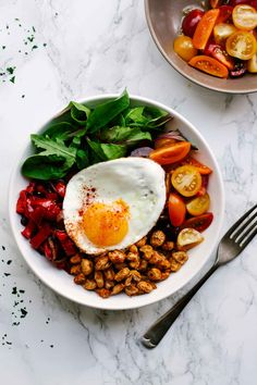 Smoky Cannellini Bean Nourish Bowls   Healthy   Vegetarian   Summer   Peppers   Tomatoes   Recipe