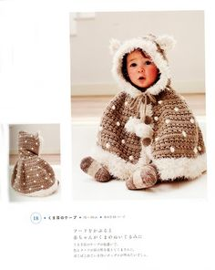 Crochet: kids. This is gorgeous - but is in Chinese/Japanese(?) Inspiration!!!!! I know I've seen capes like this before.