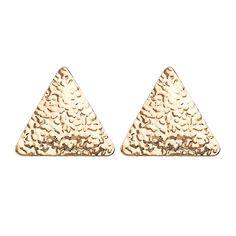 Female Trendy Simple Style Geometry Triangle Shape Shiny Alloy Stud Earrings Geometry Triangles, How To Clean Metal, Triangle Shape, Simple Style, Stud Earrings, Shapes, Female, Stud Earring, Triangles