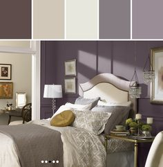 Exclusive Plum Bedroom Designed By Lisa Perrone | Stylyze Creative Director via Stylyze