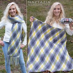 How to do Color Pooling in Crochet: Argyle Super Scarf and Blanket Free Crochet Patterns
