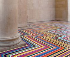 amazing flooring made with vinyl tape.  Inspiration for my trippy hippie room/ gypsy RV travel camper