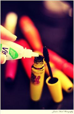 If You Put Visine Eyedrops In Your Mascara It Helps It Last Longer :)'