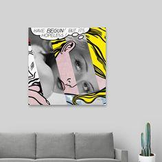 Discover «Roy Lichtenstein's Hopeless & Bette Davis», Exclusive Edition Canvas Print by Luigi Tarini - From $59 - Curioos