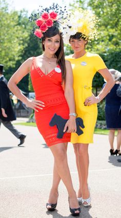 Racegoers arrive for Ladies Day at Royal Ascot 2015. Sofia Hayat and Ilda di Vico