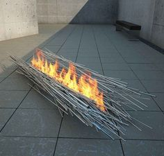 Wow, is this cool...hot, but cool! Modern Fireplaces by Elena Colombo