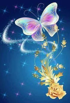 ༺♛ Christine Staniforth ♛༻ Angels In Heaven, Canvas Paintings, I Wallpaper, Art Forms, Tinkerbell, Sparkles, Butterflies, Backgrounds, Images