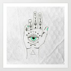 EYE SEE HAMSA Art Print by Wesley Bird - $18.00