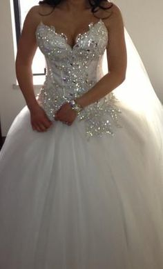 Princess wedding dress with bling! | Wedding dresses | Pinterest. Omg this dress is gorgeous! So in loveeeeee