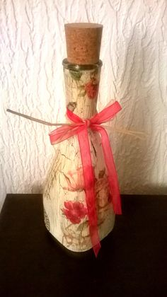 Decoupage Bottle / Vase