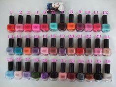 24pcs/lot-Mac Nail Lacquer Polish 36 Colors