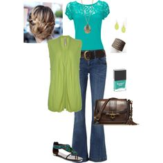 Lime and Aqua, created by katy-sutton on Polyvore