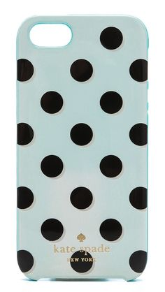 Kate Spade Polka Dot iPhone5 Case - pretty turquoise on the other side  http://rstyle.me/n/esh7tpdpe