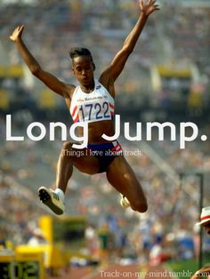 one of my favorite events:) Track Quotes, Running Quotes, Long Jump, High Jump, Jackie Joyner Kersee, Heptathlon, Jesse Owens, Triple Jump, Sports Track