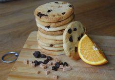 Spiced Orange, Raisin and Fudge Biscuits
