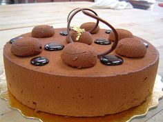 chocolate mousse cake by pathofpetals.deviantart.com on @deviantART
