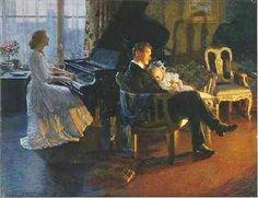 Albert Herter (American painter, 1871–1950) Just a Song at Twilight