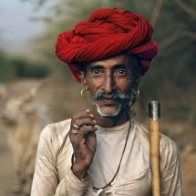 """A Rabari herdsman, Rajasthan, India. Photograph by Steve McCurry (Steve McCurry is quite well known for being the photographer of his famous """"Afghan Girl"""" portrait.)"""