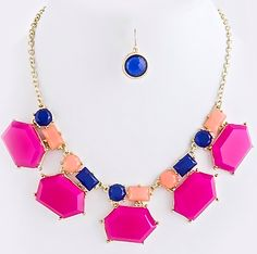 Garden Jewel Statement Necklace Set