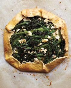// Broccolini and Feta Galette