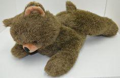 "Vintage Applause Knickerbocker Dylan Sr Teddy Bear Plush Brown Laying 19"" #3582 #Knickerbocker"