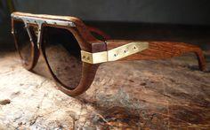 Urban Spectacles - dankwah  chechen, aluminum, brass Wooden Sunglasses, Oakley Sunglasses, Jack Of Spades, Wood And Metal, Eyewear, Cuff Bracelets, Brass, Urban, How To Wear