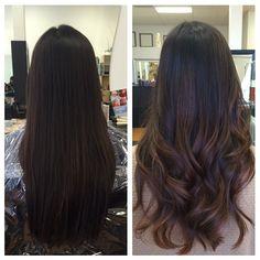 Hair Color Asian Balayage Ideas For 2019 Subtle Balayage, Hair Color Balayage, Hair Highlights, Ombre Hair, Bayalage, Balayage Hair Dark Black, Asian Balayage, Brunette Ombre, Subtle Highlights