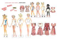 Diverse Marie dukker fra 1946-64