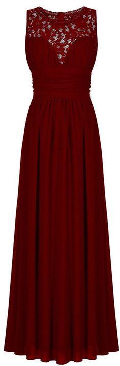 CaliaDress Women Elegant Lace Long Bridesmaid Formal Dresses Prom Gown C285LF Grape Purple US20W