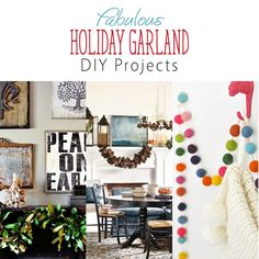 Are you looking for a special garland to adorn your mantle or door...or wall? Well then check out our Fabulous collection of Holiday Garland DIY Projects!