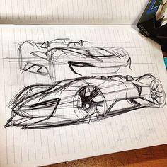 Random sketches on Behance