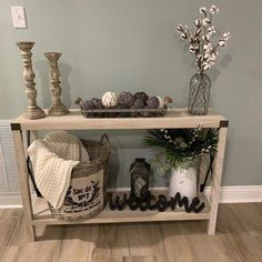 Arsenault Urban Console Table Arsenault Urban Console Table rustic home decor shelves Entry Table Decor, Farmhouse Decor, Decor, Diy Decor, Diy Home Decor, Entryway Decor, Farm House Living Room, Rustic Decor, Home Decor
