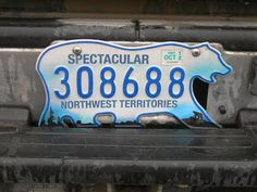 Interesting facts about Canada: license plate
