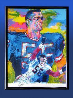 LeRoy Neiman...LT Lawrence Taylor, Leroy Neiman, American Football Players, Feet Gallery, Art Students League, National Football League, New York Street, Sports Art, Wall Street Journal
