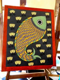 Wall hanging diy projects canvases 59 ideas for 2019 Mural Painting, Mural Art, Fabric Painting, Murals, Diy Art Projects Canvas, Diy Projects, Naive, Madhubani Art, Indian Folk Art