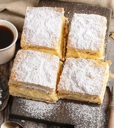You will love this Cheats Vanilla Slice Recipe and it couldn& be simpler. You only need a few simple ingredients and we have a video tutorial too. Vanilla Recipes, Donut Recipes, Healthy Dessert Recipes, Easy Desserts, Sweet Recipes, Baking Recipes, Delicious Desserts, Yummy Food, Cake Recipes