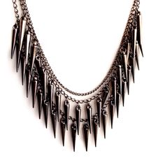 Trendy // Tassels Pendant // Fringe //  Multilayer Collar // Choker // Tassel Chains // Spikes Beads// Gunmetal // Bib Statement Necklace by XenaStyle on Etsy https://www.etsy.com/listing/191375399/trendy-tassels-pendant-fringe-multilayer