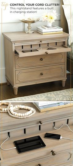 Bedroom organization can be a pain - but how clever is this? Keep all of your devices organized with our Bedroom organization can be a pain - but how clever is this? Keep all of your devices organized with our Isabella Charging Nightstand. Bedroom Sets, Home Bedroom, Bedrooms, Bedroom Hacks, Ikea Bedroom, Trendy Bedroom, Bedroom Colors, Bedroom Apartment, Modern Bedroom