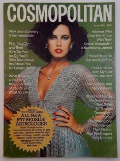 COSMOPOLITAN magazine - January 1977 - Dayle Haddon fashion beauty style | eBay