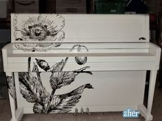 painted piano @April Cochran-Smith Griffiths something like this would look so cool on yours!