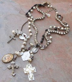 Etsy Vintage Rosary Necklace