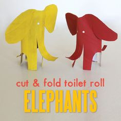 Cut & fold toilet roll elephants