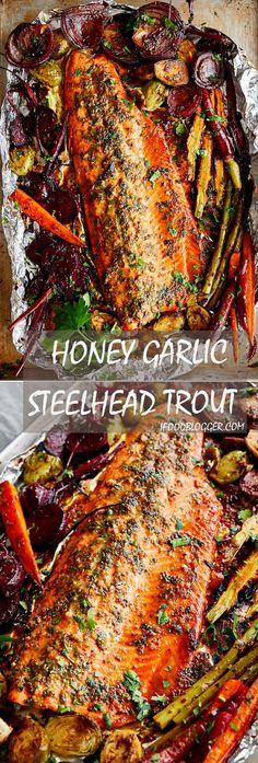 Baked Honey Garlic Steelhead Trout Recipe