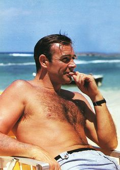 Sean Connery.  I think he looked better as he got older, but there ain't NUTHIN' wrong with the way he looked in this picture. :)