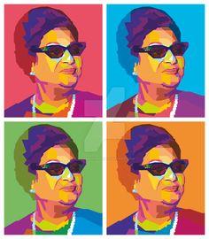 Umm Kulthum in Wedha's Pop Art Portrait ( WPAP ) by AdamKhabibi