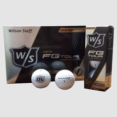 CFL Wilson FG Tour Golf Balls 12Pk / Balles de golf de la LCF FG Tour de Wilson Staff (paquet de 12). Get your NEW CFL full colour logo Wilson Staff FG Tour golf balls.  Awarded with Golf Digest Hot List gold recognition, the new Wilson Staff FG Tour four-piece urethane tour ball sets a new standard for the discerning player.   The FG Tour guarantees exceptional distance from the tee, best-in-class spin around the green and unmatched soft feel.  Quantity: 12 GOLF BALLS PER PACK Golf Ball, Spin, Distance, Balls, Tours, Colour, Logo, Collection, Color