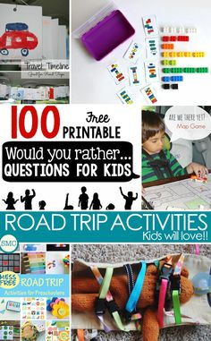 So many great road trip activities my kids might actually enjoy riding in the car for so long!