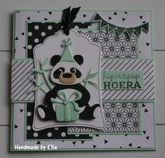 Hieperdehiep hoera Layout idea to use with other animals Birthday Scrapbook, Birthday Cards, Baby Cards, Kids Cards, Happy Birthday Kids, Marianne Design Cards, Beer Art, Elizabeth Craft Designs, Animal Cards